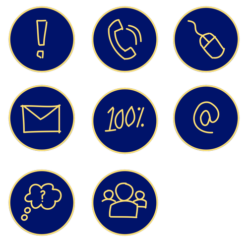 business icons  hand drawn icons  blue icons
