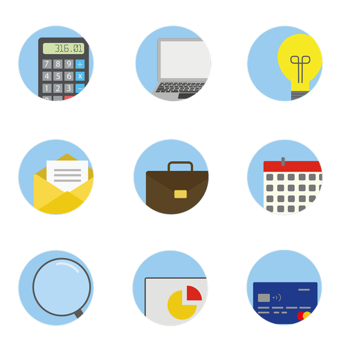business icons  icons  calculator