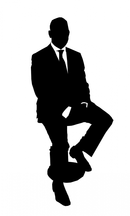 business man silhouette suit