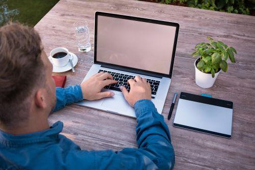business man laptop work