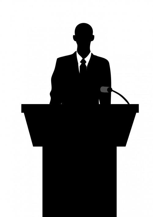 verslas & nbsp, žmogus, verslas, vyras, Patinas, asmuo, kostiumas, marškinėliai, kaklaraištis striukė, juoda, siluetas, kalba, lectern, mikrofonas, koncepcija, Iliustracijos, iliustracija, Laisvas, vaizdas, viešasis & nbsp, domenas, verslo žmogus siluetas