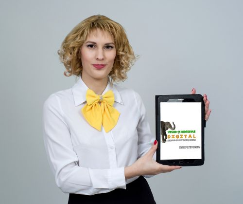 business woman business tablet
