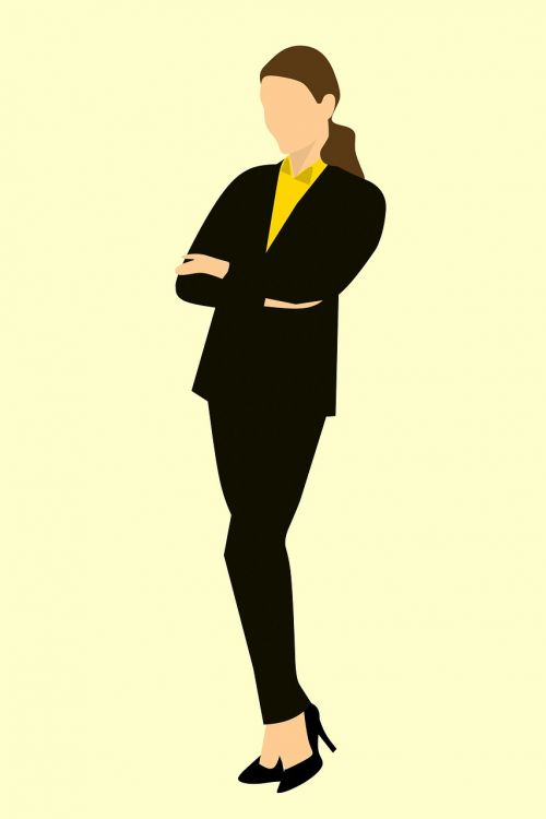 business woman standing arms crossed