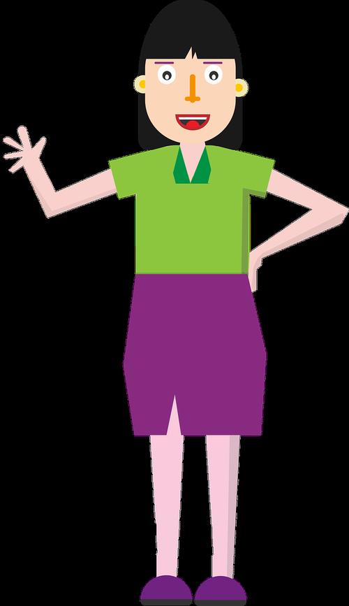 business woman character  cartoon character  woman