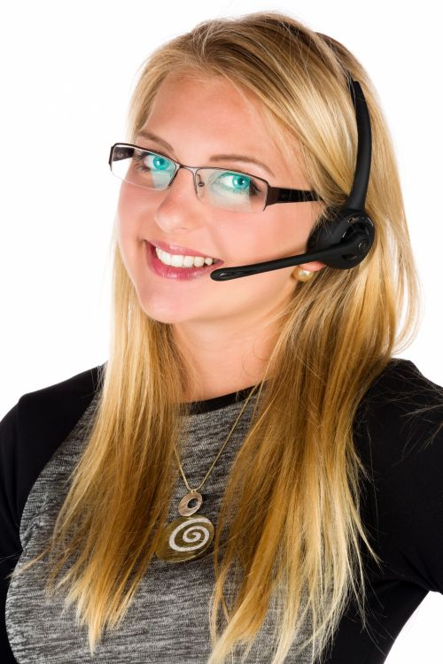Business Woman With A Headset