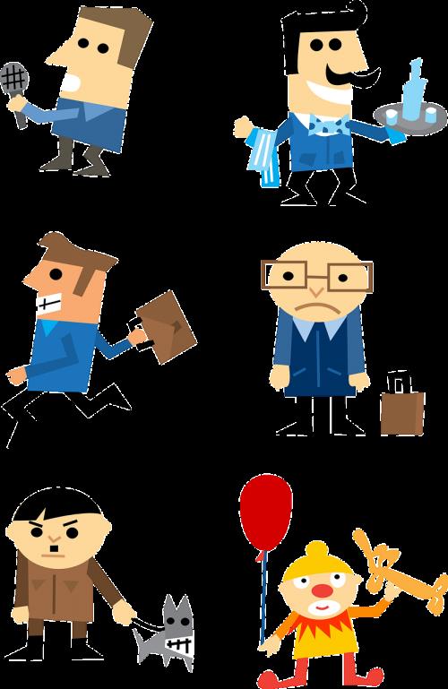businessman characters clown