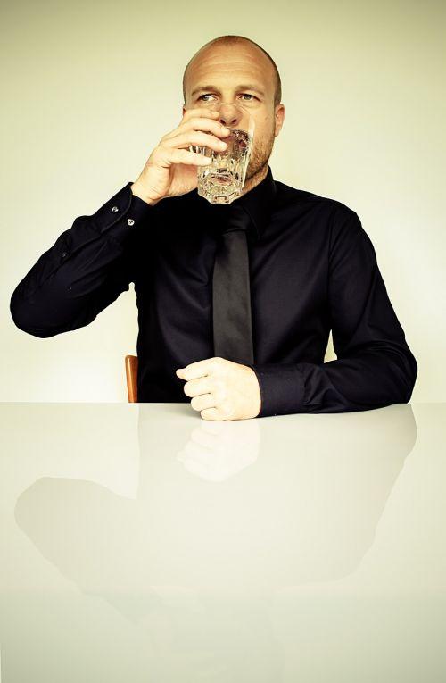 businessman drinking fashion