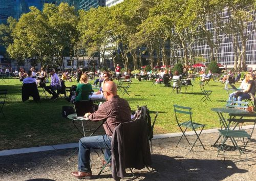 businessman new york park
