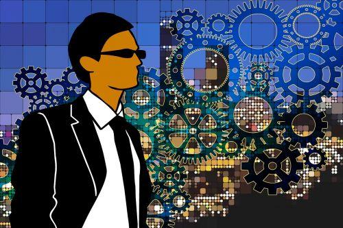businessman career skyline