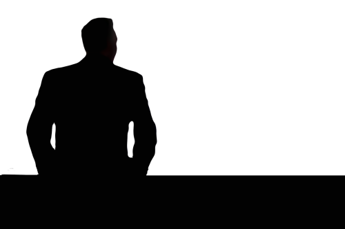 businessman silhouette view