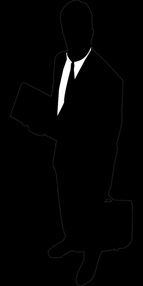 businessman man silhouette