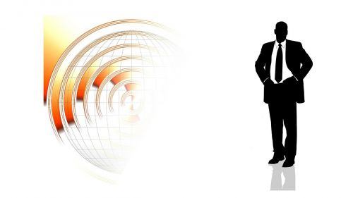 businessman self-employed logo