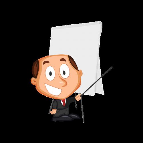businessman cartoons training