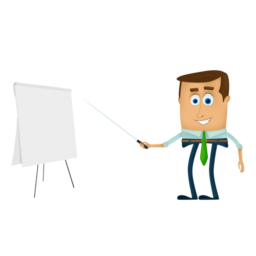 businessman cartoons training