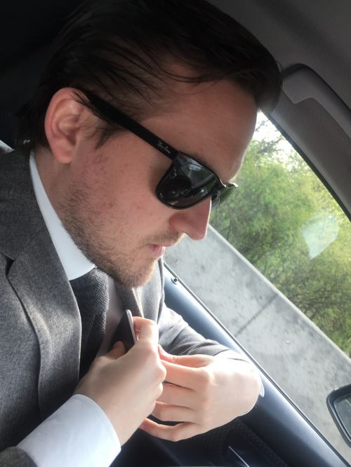 businessman affairs car