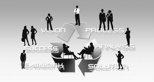 businessmen silhouettes man