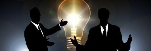 businessmen pear think