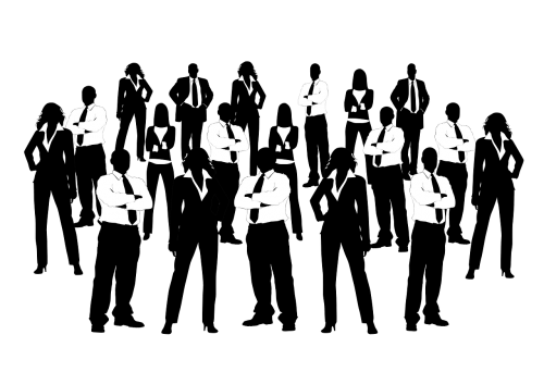 businessmen personal silhouettes