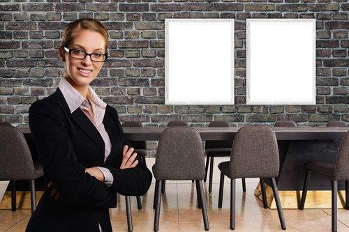 businesswoman  office  meeting