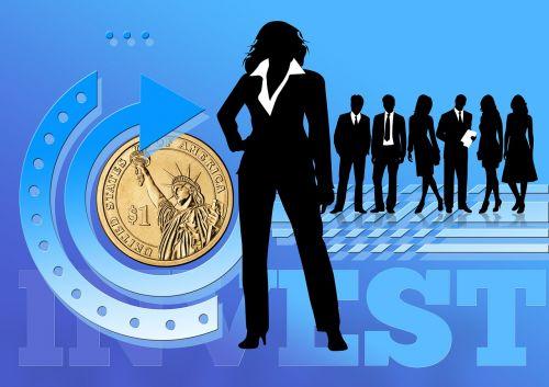 businesswoman businessman investement