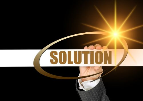 businesswoman solution conflict