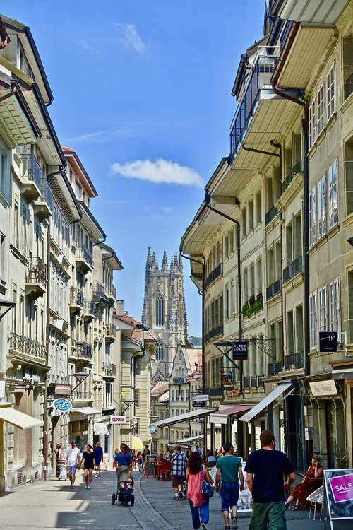 busy  street  city