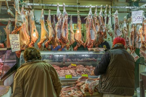 butcher customers goat meat