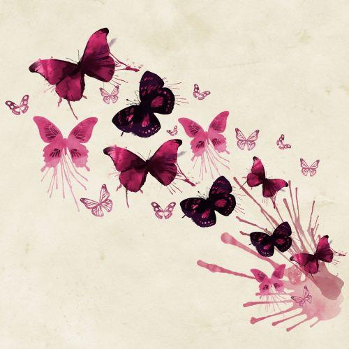 Butterflies Watercolor Art