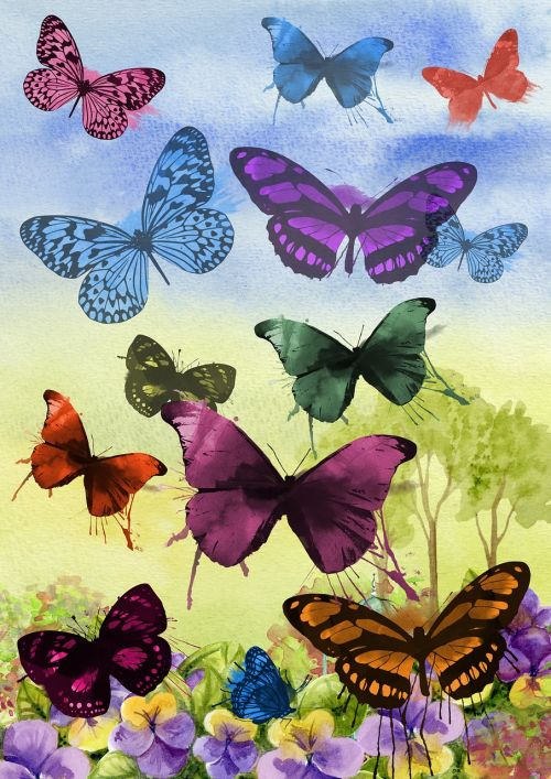 butterfly painting art