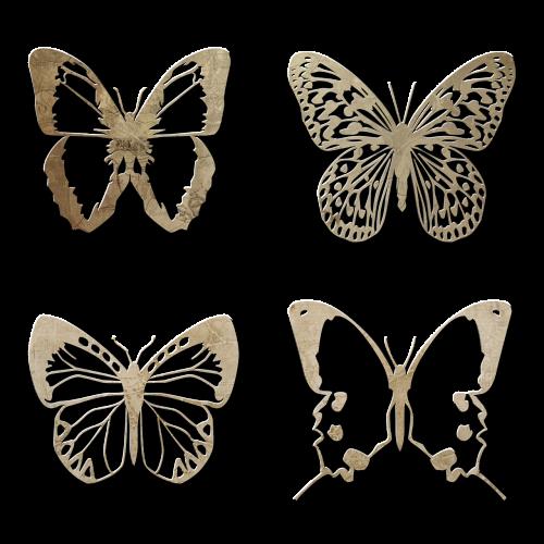 butterfly elements scrapbook
