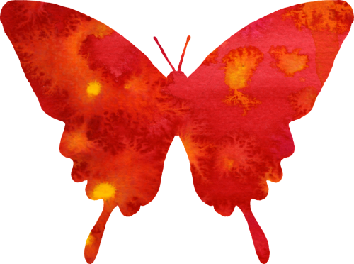 butterfly clipart red