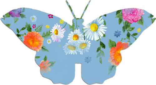 butterfly blue clipart