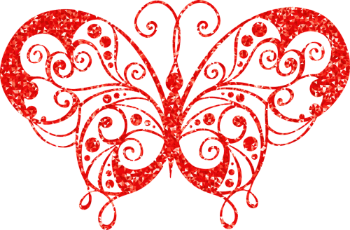 butterfly ruby abstract