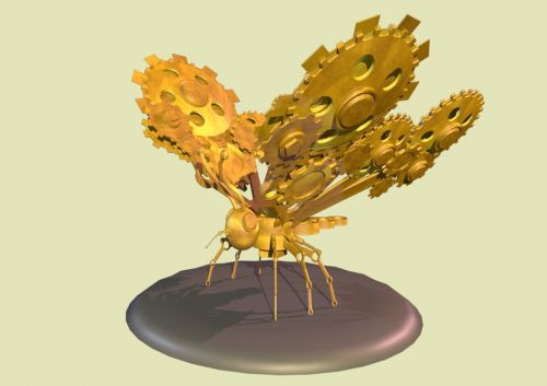 butterfly 3d clockwork