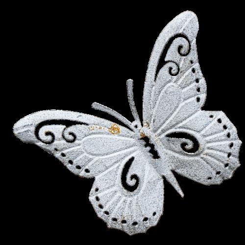 butterfly metal figure wall decoration