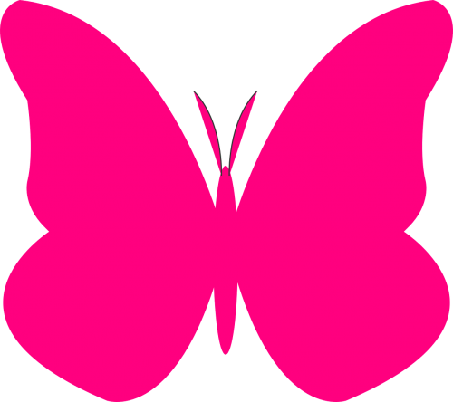 butterfly pink silhouette