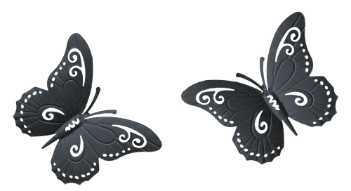 butterfly metal decoration