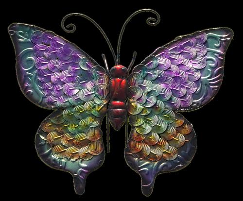 butterfly  metal figure  decoration