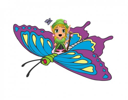 Butterfly And A Girl