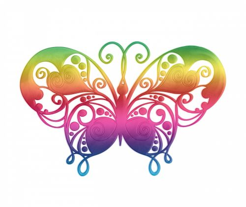 Butterfly Clipart Rainbow Colors