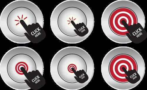 button hand click icon