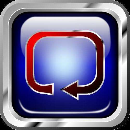 button blue multimedia