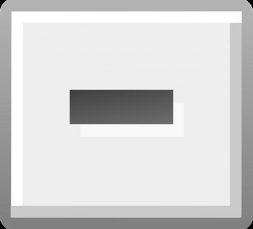button delete gray
