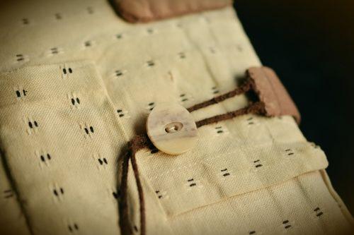 button fabric cover