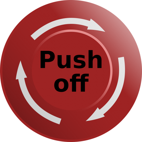 button emergency push off