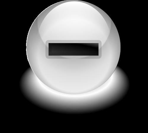 button minus negative