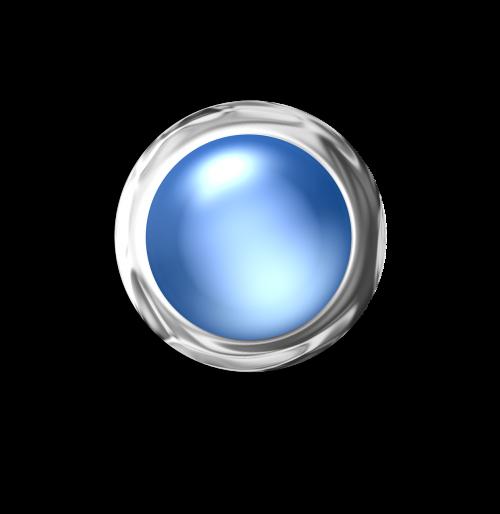 button blue silver