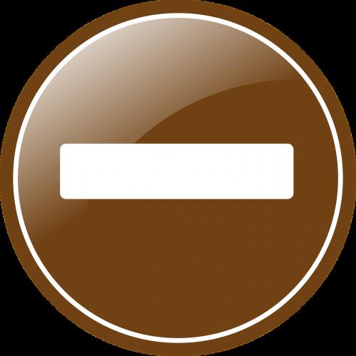 button minus sepia