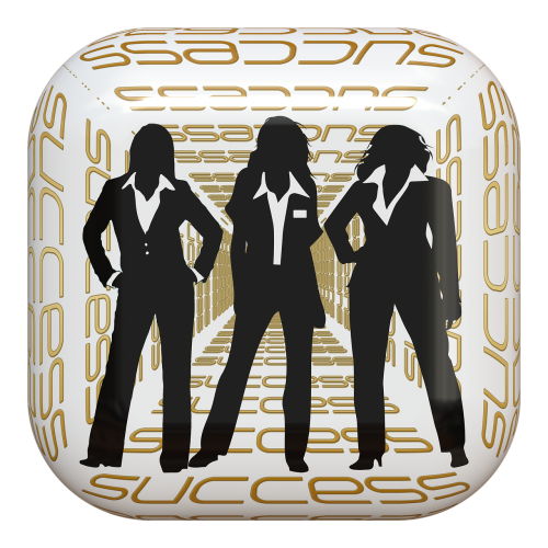 button businesswomen success