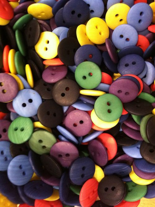 buttons colorful smarties